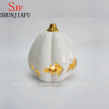 Wholesale Ceramic Halloween Pumpkin Figurine with LED Function