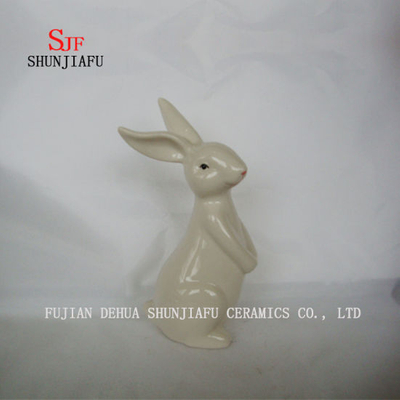 Cute Rabbit Home& Office Decor Furnishing Articles Ceramic Craft or Children′s Toys Gifts
