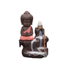 Ceramic Incense Incense Burner Backflow Tower Cones Sticks Holder Ceramic Porcelain Buddha Monk Ash Catcher- Blue