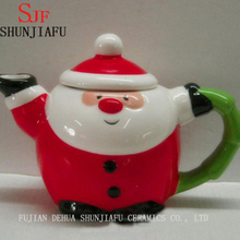Ceramic Snowman Tea for One Teapot