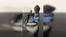 Little Buddha Backflow Incense Burner Ceramics Home Decoration