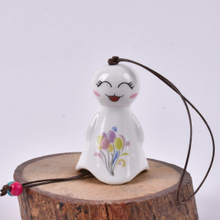 Lovely Wind Chimes White Porcelain Small Laughing Sunny Flowers Dolls