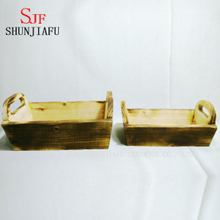 Wholesale Price Square Wood Planter Container for Flower Planting