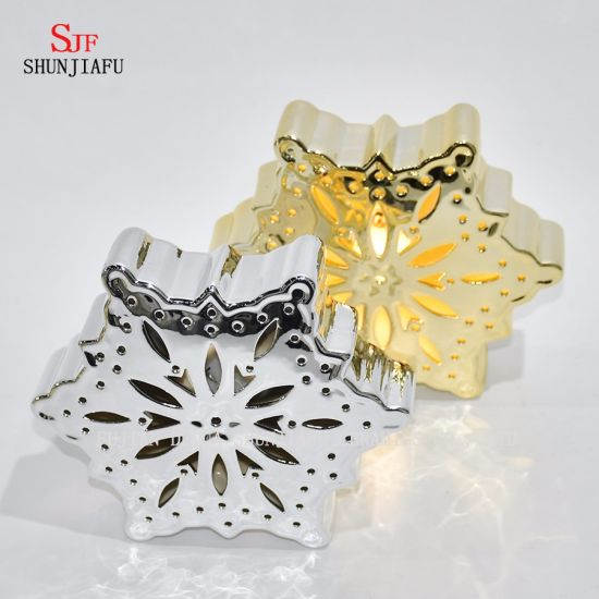 Electroplated Ceramic Candle Stand by LED/Holiday Gifts
