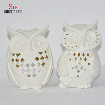 Owls Shape Ceramic Candle Holders/D