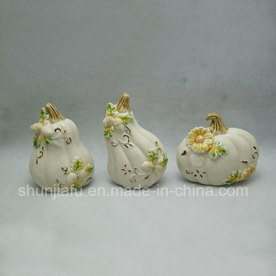 Ceramic Fruit Shape with Flowers for Home Furnings