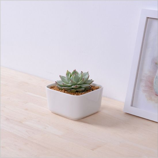 Table Coffee Table Circular Large Ceramic White Flowerpot