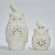New Design, an Owl with a Christmas Hat / Candle Holder/Charistmas Gift