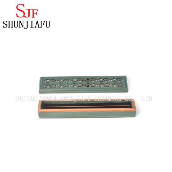 Ceramic Incense Holder Inserted Box Four Colors