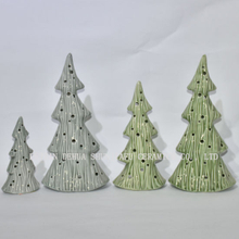 Christmas Tree Ceramic Candle Stand for Home/Leisure Hall Decoration