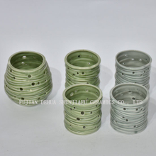 Ceramic Candles Holders for Daily Decoration Green