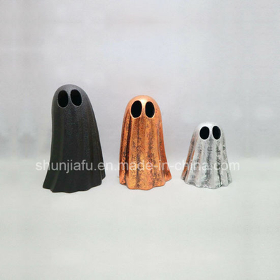 Ceramic Halloween Ghost LED Candle Holder