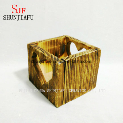 Small Square Wooden Flower Pot Planters