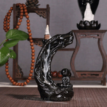 Creative Smoke Backflow Incense Burner Ceramic Home Craft Decoration