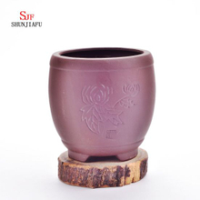 Purper Sand Round Fleshpots with Floral Patterns Succulent Planters Garden/Ceramic Small Plant Pots