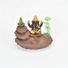 Stick Holders golden Ganesha Backflow Incense Burner Elephant god Emblem Auspicious and Glass vase Success Ceramic Cone Censer Home Decor