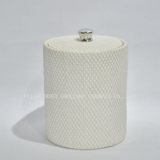Ceramic Round Canister Jar with Tight Lids for Kitchen