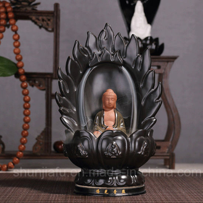 Shunjiafu Back Like Smoke Incense Ceramic Buddhist Master Incense Burner
