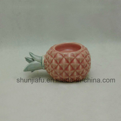 Ceramic Pineappler Candle Holder Home Decor