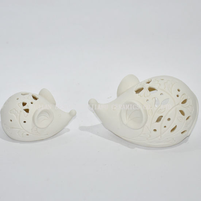 Mouse Shape Ceramic Design Tea Light Storm Lantern - Candle Holder/Christmas Gift