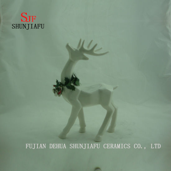 Ceramic Stand Deer Shape Desktop Decoration, Holiday Gift/a