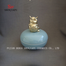 The Owl Ceramic Box, Jewellery Box