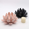 Various Flower Styles Different Color Porcelain Statue Handmade Crafts Figurine Ceramic Flower Candle Holder