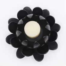 All kinds of flower patterns home decoration black ceramic flower candle holder