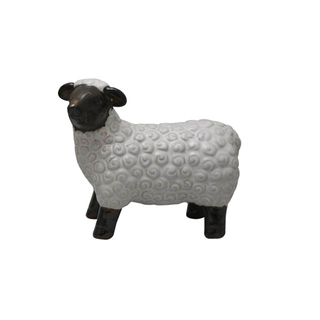 Ceramic White Farm Sheep Statues Decoration
