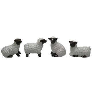 Ceramic White Sheep Statue Animal Ornaments