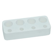 White Horizontal Plate 4 Holes Diatomite Toothbrush Holder