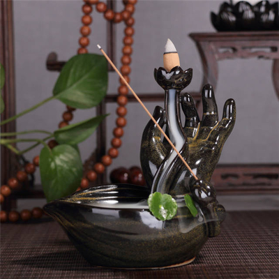 Buddha′s-Hand ceramic Backflow Incense burner