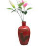Ceramic Various Styles Wine Bottle Design Red Relief Rooster style Wine Bottle Style Ceramic Vase