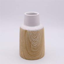 Home Decoration Fashion Simple Table Vase Wood Grain Ceramic Vase