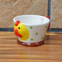Little Rooster Design 3D Ceramic Ice Cream Cup