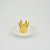 Golden Crown Style Wedding Decoration Gift Jewelry Tray Trinket Tray Ceramic Wedding Ring Holder
