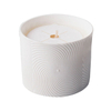 Christmas use White ceramic candle cup