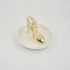 Golden Shoe Style Home Decor Gift Jewelry Display Tray Wedding Gift Ceramic Ring Holder Custom Trinket Tray