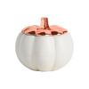 Plated Gold Rose Gold New Product Ceramic Pumpkin Lid Ceramic Pumpkin Candle Jar