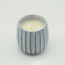 Embossed Strip-style Ceramic Candle Cup