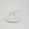 Small Bird Figurine Wedding Decoration Gift Animal Jewelry Tray Trinket Tray Ceramic Ring Holder Jewelry