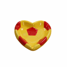 Soccer, basketball style heart style ceramic ashtray