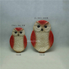 various colors pink Ceramic owl plate