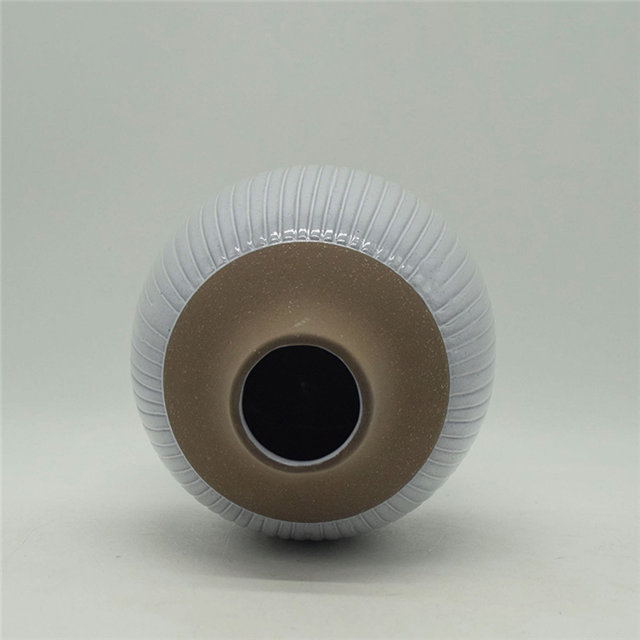 Home Furnishing Decoration Tabletop Ceramic Vase Desktop Decoration Polyhedrosis Desktop Decoration Grey White Ceramic Vase