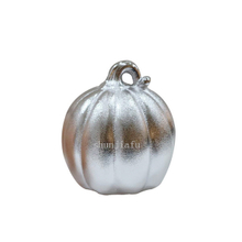 Silvery P Ceramic umpkin Decorations for outside Golden Ceramic Pumpkins