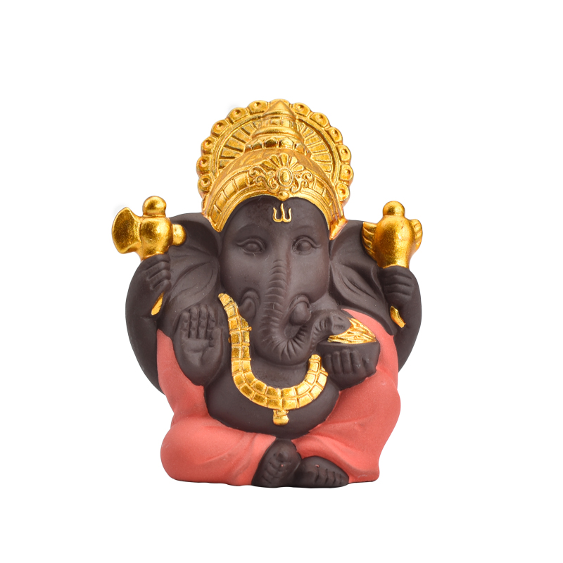 Wedding Supply Home Decor Wedding Gift Different Color Choose Golden Ceramic Ganesha Statue