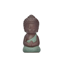 Handmade Crafts Home Decor Wedding Gift Different Color Choose Guanyin Figurine Buddha Ceramic Little Monk Statue